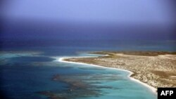 Vista aérea de una isla en el Mar Caribe. JUAN BARRETO / AFP