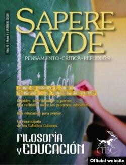 """Portada del primer número de """"Sapere Aude""""."""