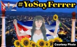 Campaña en redes a favor de Ferrer Tomado de Facebook de activista María Ayala