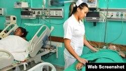 El descontrol en las instituciones sobre el trabajo de las enfermeras se revierte en una pobre atención a los enfermos, asegura una capitalina a Martí Noticias.