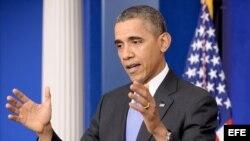 Presidente Barack Obama en conferencia de prensa