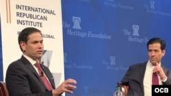 Marco Rubio en el Heritage Foundation.