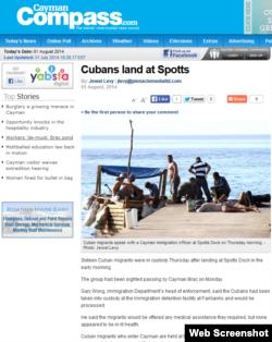 La noticia publicada en Cayman Compass.