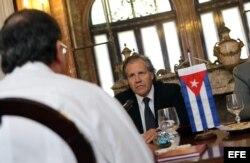 Almagro estuva en Cuba cuando era canciller de Uruguay. Foto tomada el 18 de febrero de 2013, en La Habana (Cuba).