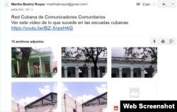 Reporta Cuba. Envían SMS y email a reportacuba@gmail.com.