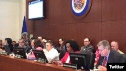 Sesión extraordinaria de del Consejo Permanente de la OEA para abordar la crisis de migrantes venezolanos.