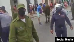 Las autoridades reprimieron la protesta en Camagüey el 11 de julio.