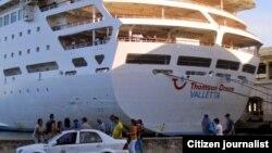 Reporta Cuba Crucero inglés en Habana Foto Mario Hechavarria