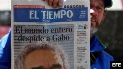 La prensa colombiana llora con orgullo al compatriota inmortal