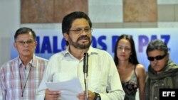 Miembros del equipo negociador de las FARC en diálogos de paz con el Gobierno de Colombia