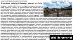 Semanario La Nueva República (Captura de pantalla).