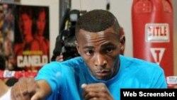 Erislandy Lara, campeón mundial de boxeo en el peso 160 libras.