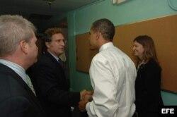 Joe García con el presidente Barak Obama