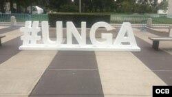 Hashtag de la Asamblea General de la ONU