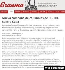 La nota del periódico Granma contra el líder la Unión Patriótica de Cuba, UNPACU.