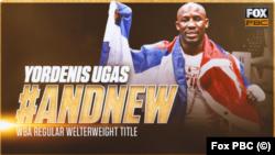 El cubano Yordenis Ugás, campeón mundial de peso welter de la WBA.