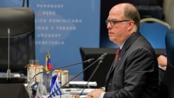 Julio Borges, representante de Juan Guaidó para las Relaciones Exteriores en Venezuela. (Raul ARBOLEDA / AFP)