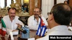 CUBA-LA HABANA-SOSTIENEN CONVERSACIONES OFICIALES CANCILLERES DE