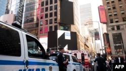 La policía apostada en Times Square, New York, mayo de 2019. (Archivo, AFP).
