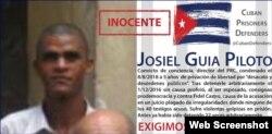 Josiel Guía Piloto en la nota de denuncia difundida por Cuban Prisoners Defenders.
