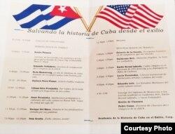 Reconocidos exiliados expusieron sus visiones de la historia de Cuba en el primer congreso de la AHCE.
