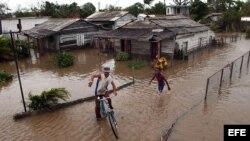 Foto de archivo de inundaciones en Cuba
