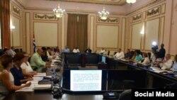 Reunión del Consejo de Estado de Cuba