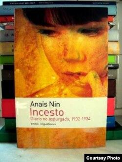 Edición en español de Incesto: Diario no expurgado, 1932-1934, de Anaïs Nin.