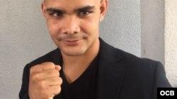 El cubano Machado antes de efectuar su último combate en Miami en el 2018. Foto Edemio Navas.