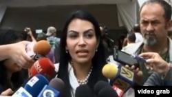 La diputada a la Asamblea Nacional de Venezuela Delsa Solórzano explica la solicitud para que Michelle Bachelet visite el país