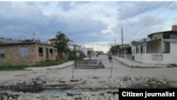 Intersección de la céntrica Avenida 21 con la calle 18, Caibarién. Fotos: Carlos Michael Morales.