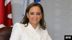 La canciller de México, Claudia Ruiz Massieu
