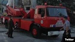 Coche de bomberos en Cuba. Foto Archivo