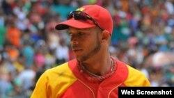 Yadiel Hernández, cuando jugaba con los Cocodrilos de Matanzas.