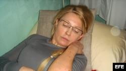 Yulia Timoshenko en la cárcel ucraniana.