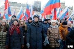 Beris Nemtsov memorial opposition march