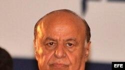 Imagen de archivo del presidente yemení, Abdo Rabo Mansur Hadi