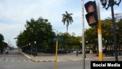 Calles vacías en Ciego de Ávila tras nuevas medidas por COVID-19. (Osvaldo Gutierrez Gomez/Facebook)
