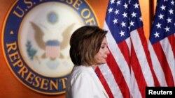 La presidenta de la Cámara de Representantes, la demócrata Nancy Pelosi. (REUTERS/Tom Brenner)