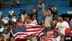 El primer juego Cuba-EEUU