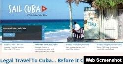 """""""Viaja legal a Cuba… antes que cambie"""", frase promocional de la agencia Insight Cuba."""
