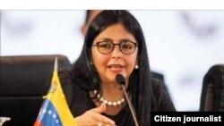 Delcy Rodríguez, vicepresidente de Venezuela.