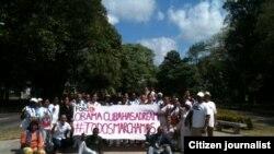 Activistas de Derechos Humanos participan en la jornada 44 de #TodosMarchamos.