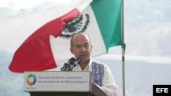 El presidente mexicano, Felipe Calderón, en Xalapa, estado de Veracruz (México), a escasos días de dejar la presidencia.
