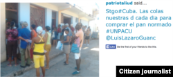Reporta Cuba Colas en Santiago de Cuba Foto @patriotaliu