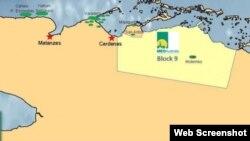 Los proyectos de exploración petrolera de Melbana en Cuba se ciñen al Bloque 9, situado entre Varadero y Motembo.