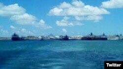 Foto de los buques petroleros publicada en Twitter por el diputado Julio Borges. (@JulioBorges)