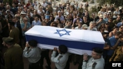 Funeral de soldado israelí Amotz Greenberg