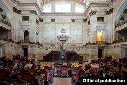 Interior del Capitolio Nacional. Library of Congress