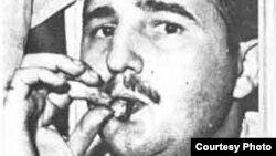 Fidel Castro tras salir de la cárcel, durante la entrevista que le hiciera Agustín Alles para la popular revista Bohemia.